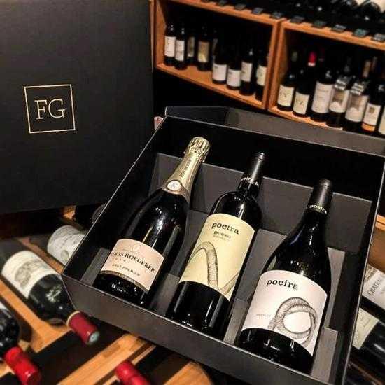 Cabaz Champagne Louis Roederer Brut Premier + Poeira Tinto + Poeira Branco