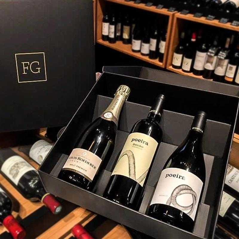 Pack Louis Roederer Brut Premier Champagne + Poeira Red + Poeira White