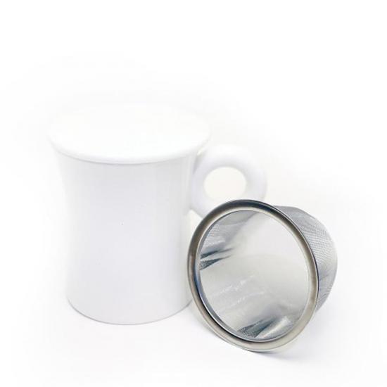 White Mug w/filter