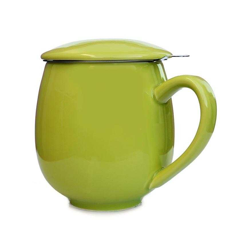 Green Mug with Strainer