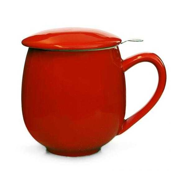 Red Mug with Strainer