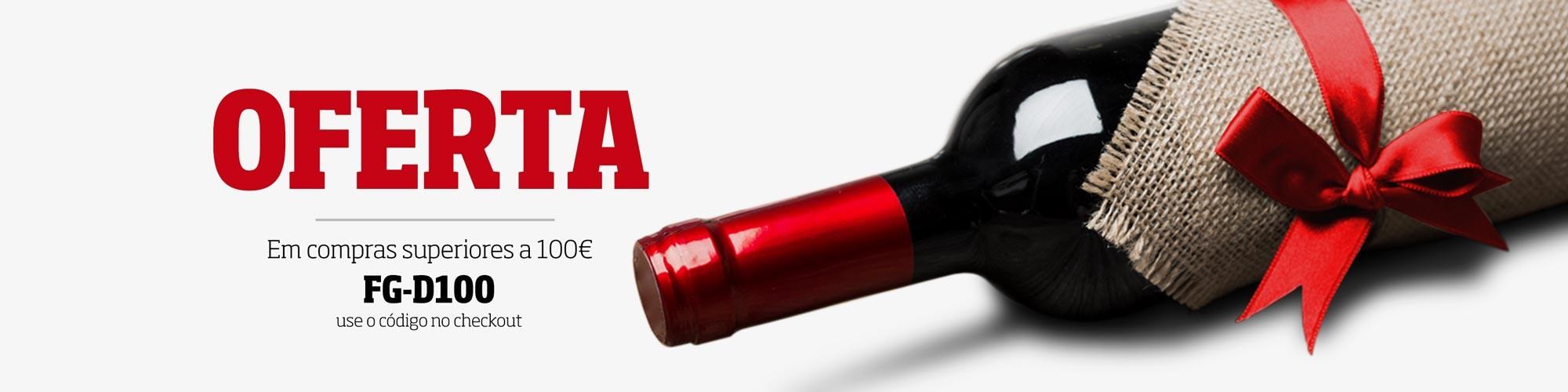 Oferta de uma garrafa de vinho Francês em compras de valor superior a 100€. Não perca esta oportunidade!
