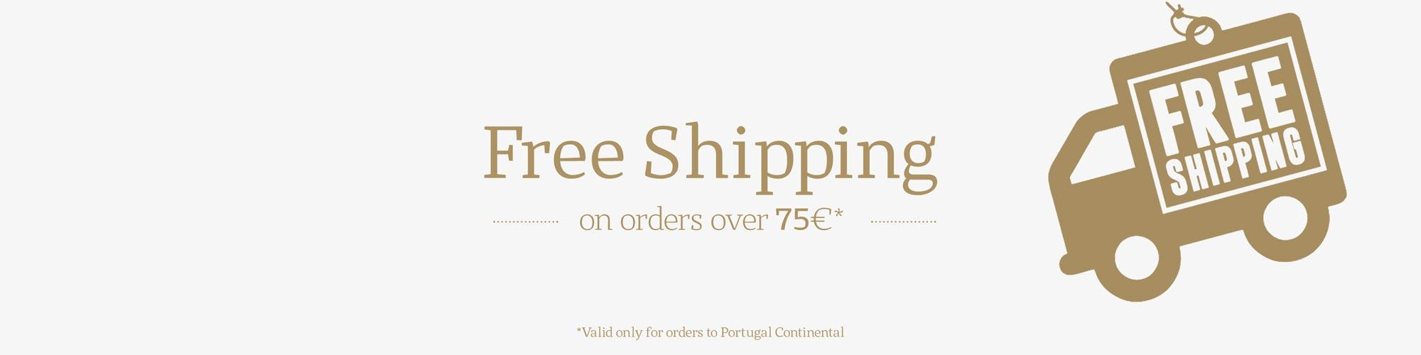 Free Shipping on orders over 75€