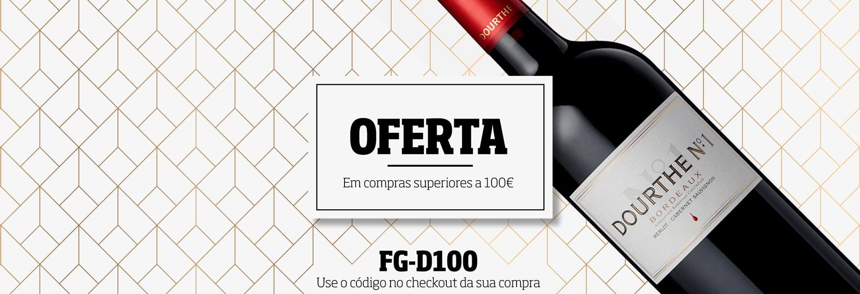 Oferta de uma garrafa de vinho Dourthe Nº1 em compras de valor superior a 100€. Não perca esta oportunidade!