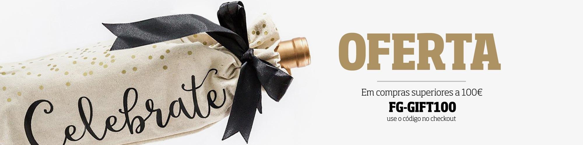 Oferta de uma garrafa de vinho internacional em compras de valor superior a 100€. Não perca esta oportunidade!
